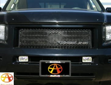 2006-2008 HONDA RIDGELINE Diamond Cut Mesh-Main Grille-Overlay (Diamond Black)