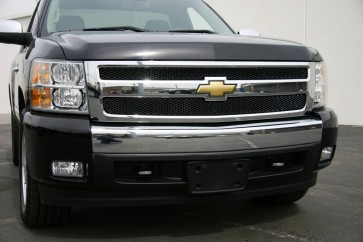 2007-2013 CHEVROLET SILVERADO 1500 Diamond Cut Mesh-Main Grille-Overlay (Black)