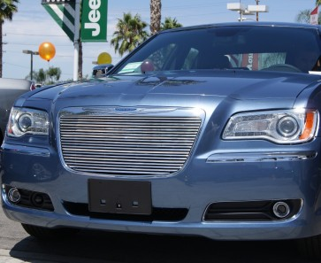 2011-2012 Chrysler 300 Angled High Density Main Grille-Overlay (Polished)