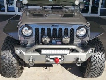2007-2017 Jeep Wrangler (JK)- Diamond Cut Grille Insert- GLOSS BLACK