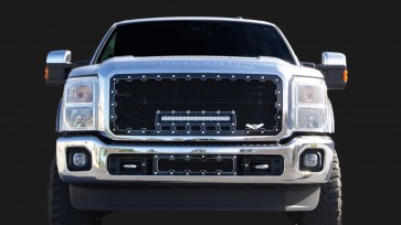 2011-2016 Ford Super Duty Machined Brute Grille With 18 Inch LED Light Bar