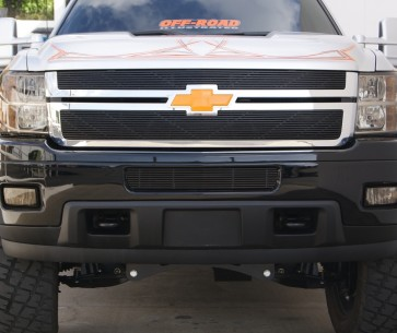 2011-2012 Chevy Silverado 2500/3500 HD High Density Billet-Main Grille-Overlay (Black)