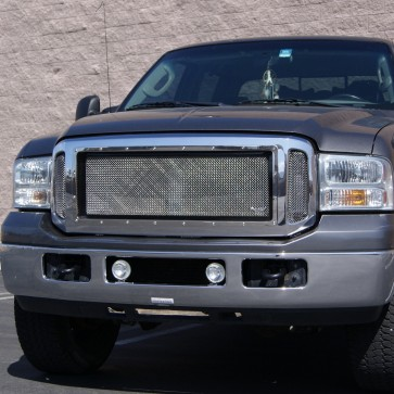 2005-2007 FORD SUPERDUTY F250/F350 Special Edition Stainless Grille with Gloss Black Inner Frame- Main Grille