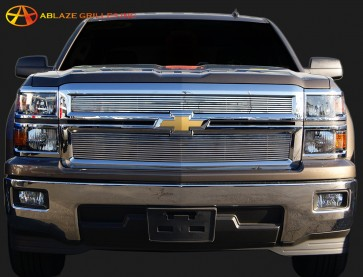 2014 Chevrolet Silverado 1500 2 Piece HYigh Density Billet- Overlay (Polished)