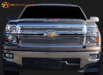 2014 Chevrolet Silverado 1500 2 Piece Framed Diamond Cut - Overlay (CHROME)