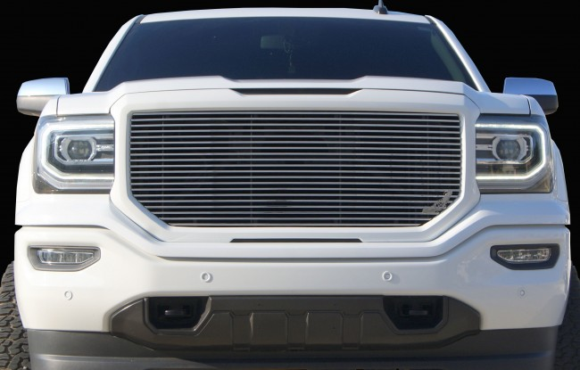 2016-2017 GMC Sierra 1500 Billet Grille Insert w/ Light Bar Grilles done The Right way