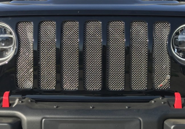 2018 Jeep Wrangler JL, Stainless Wire Mesh Grille Insert