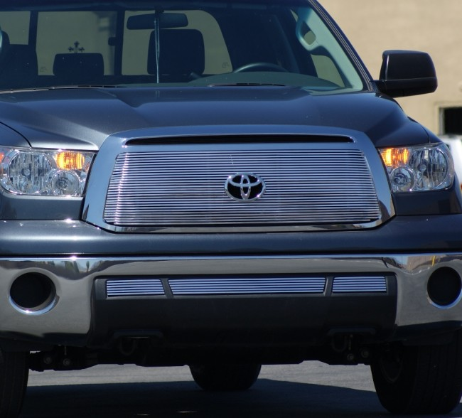 2018 Toyota Tundra >> 2010-2011 Toyota Tundra High Density Main Grille-Overlay with Logo Cut out (Polished) Grilles ...
