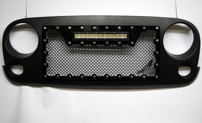 Jeep Wrangler Grill >> 2007-2015 Jeep Wrangler JK - Brute Edition Cut Out Style ...
