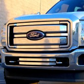 2011-2013 Ford Super Duty 4PC Black Market Accent Overlay-(Polished)