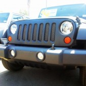 2006-2013 Jeep Wrangler (JK)- Polished Stainless Wire Mesh Grille
