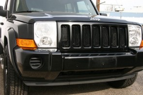 Jeep Commander 06-10 Diamond Cut Mesh-Main Grille-Insert-(Black)