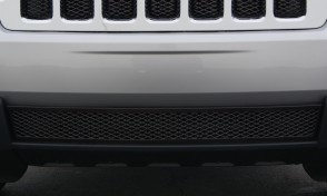 2011-13 Jeep Grand Cherokee Framed Diamond Cut Mesh-BUMPER Grille-Insert (Black)