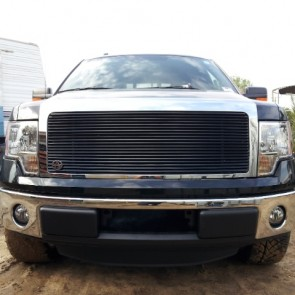 2009-2012 Ford F150 3/8 Angled High Density Main Grille-Insert (All Black)