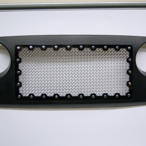 2007-2015 Jeep Wrangler JK - Brute Edition Cut Out Style Grille