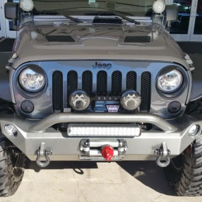 2006-2015 Jeep Wrangler (JK)- Diamond Cut Grille Insert