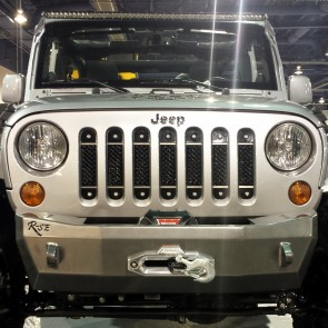 2007-2017 Jeep Wrangler JK - Stainless Black A-II Grille Insert